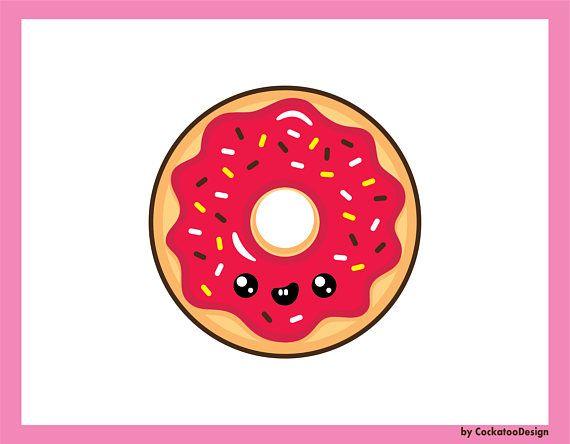 Donuts clipart cute. Donut kawaii clip art