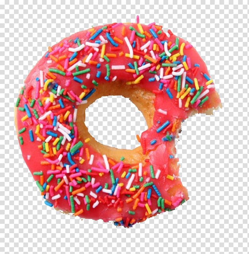 Strawberry doughnut with sprinkles. Donuts clipart donut day