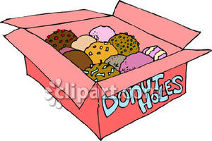 An open box of. Donuts clipart donut hole