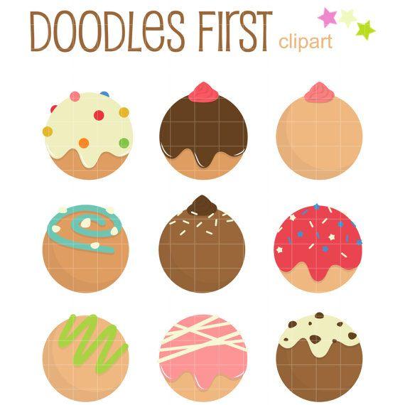 Donuts clipart donut hole. Holes digital clip art