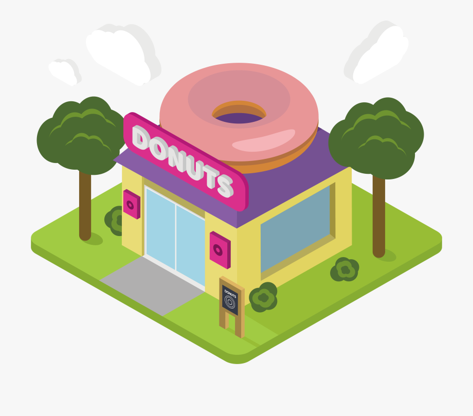 Donuts clipart donut shop. Cartoon png free