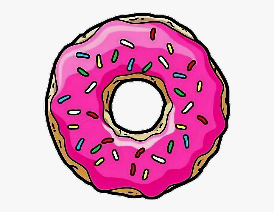 Donuts clipart donut tumblr. Homer simpsons transparent