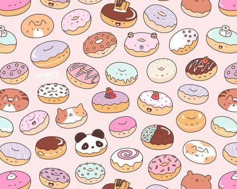 Mmm kawaii donut doodle. Donuts clipart doodles