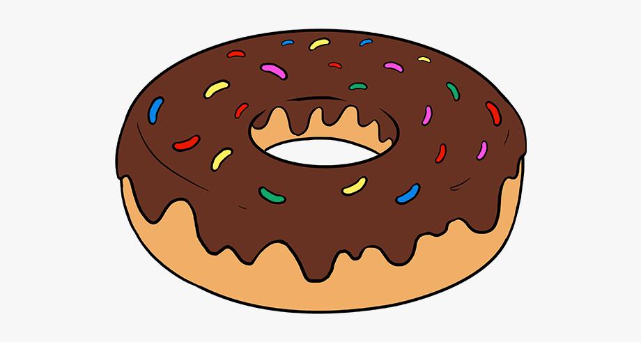 How to draw donut. Donuts clipart easy cartoon