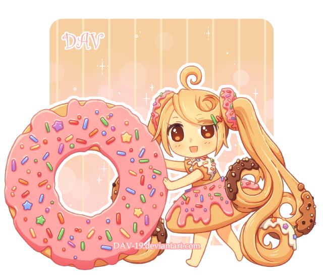 Donut girl moji oblubeny. Donuts clipart easy cartoon