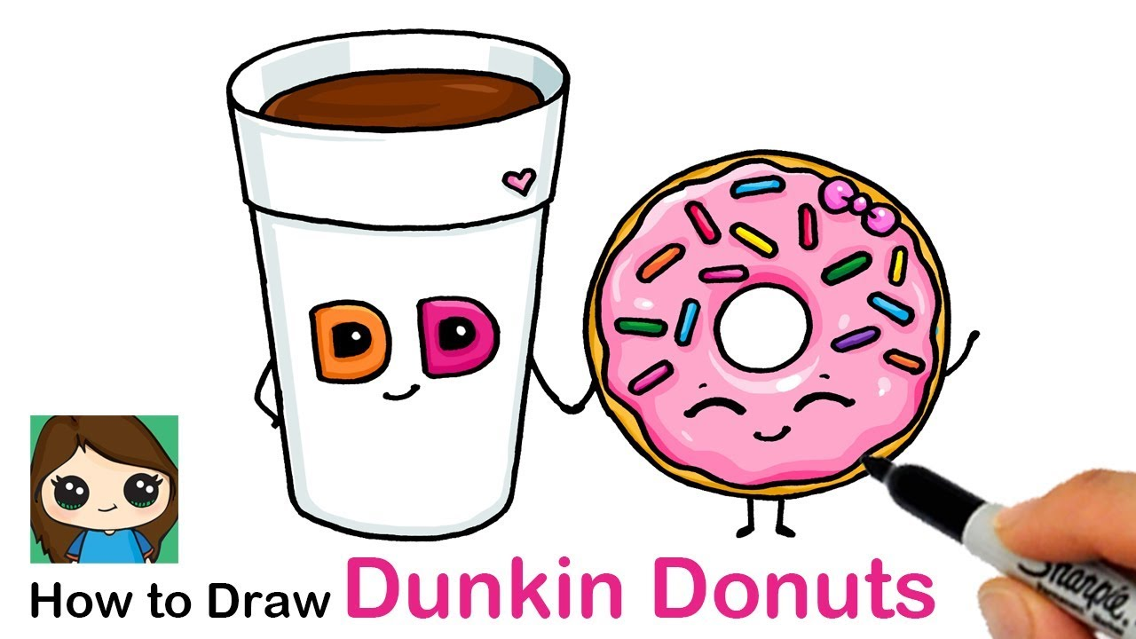 Donuts clipart easy cartoon. How to draw a