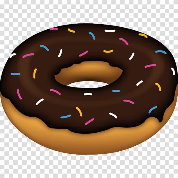 Doughnut clipart food. Chocolate topped illustration emoji