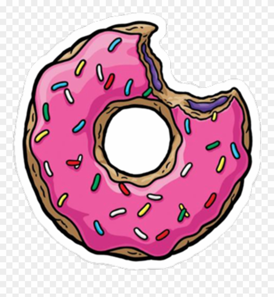 Donuts food sweets pink. Doughnut clipart bite