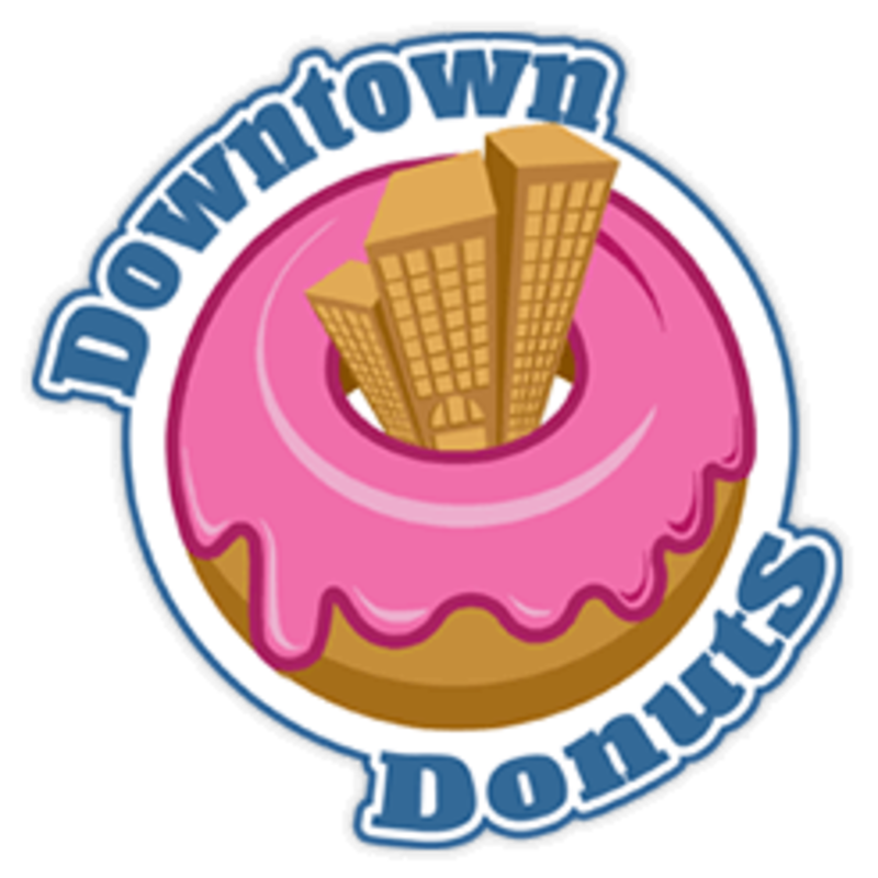 Downtown delivery s spring. Donuts clipart food taste