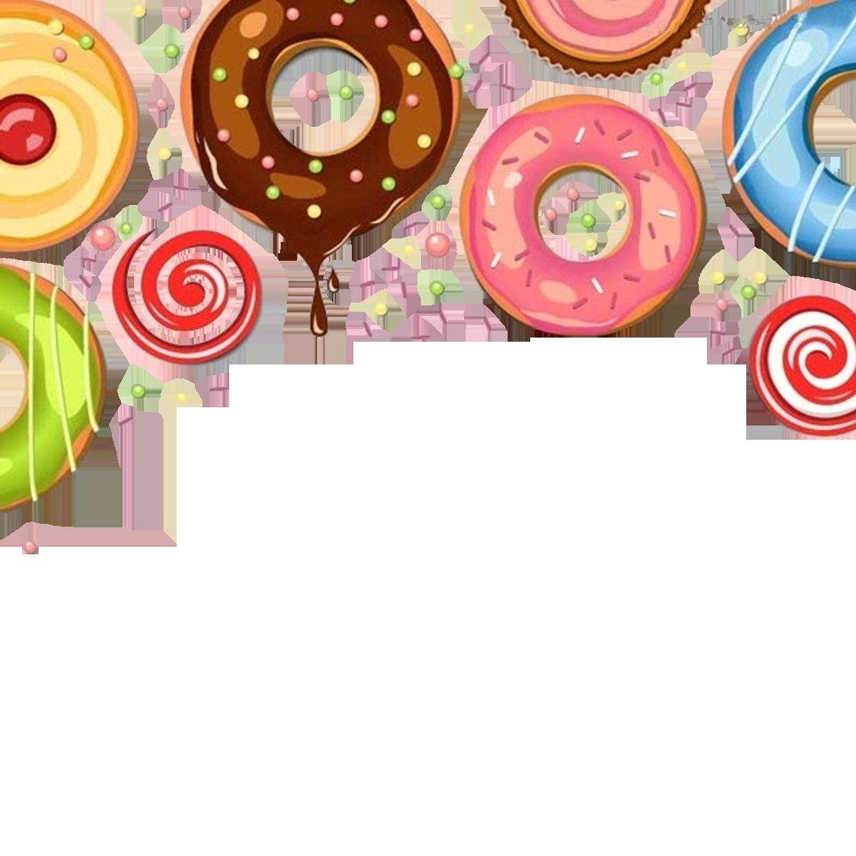 Chocolate dessert cake donuts. Doughnut clipart beignet