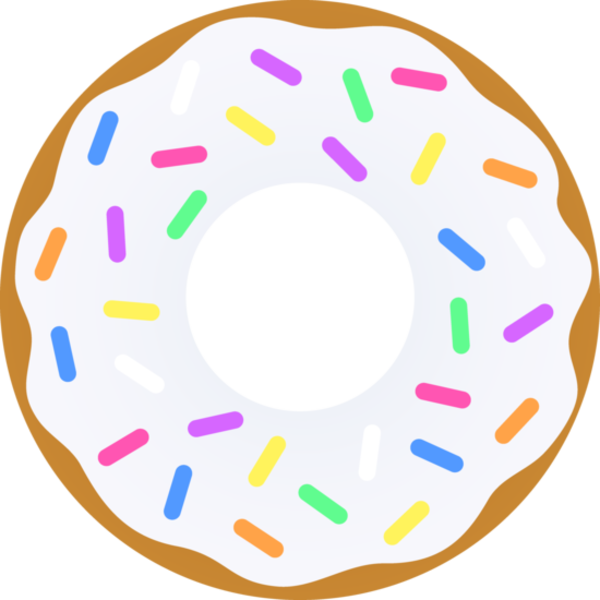 Donut vanilla sprinkles images. Donuts clipart free public domain