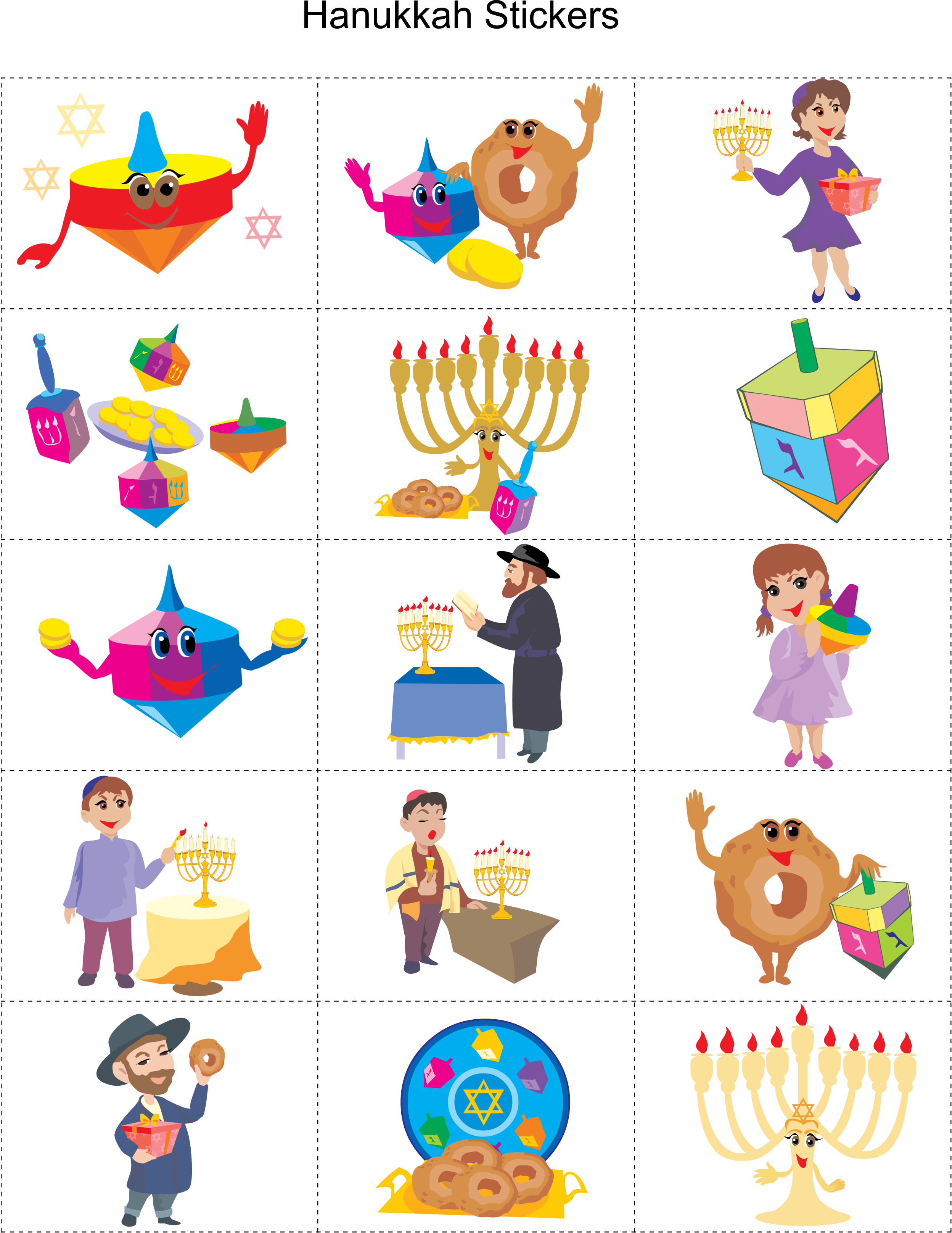 Donuts clipart hanukkah. Printable stickers month winter