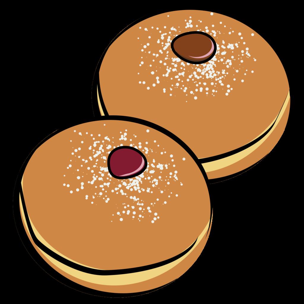 Sufganiyah gelt clip art. Donuts clipart hanukkah