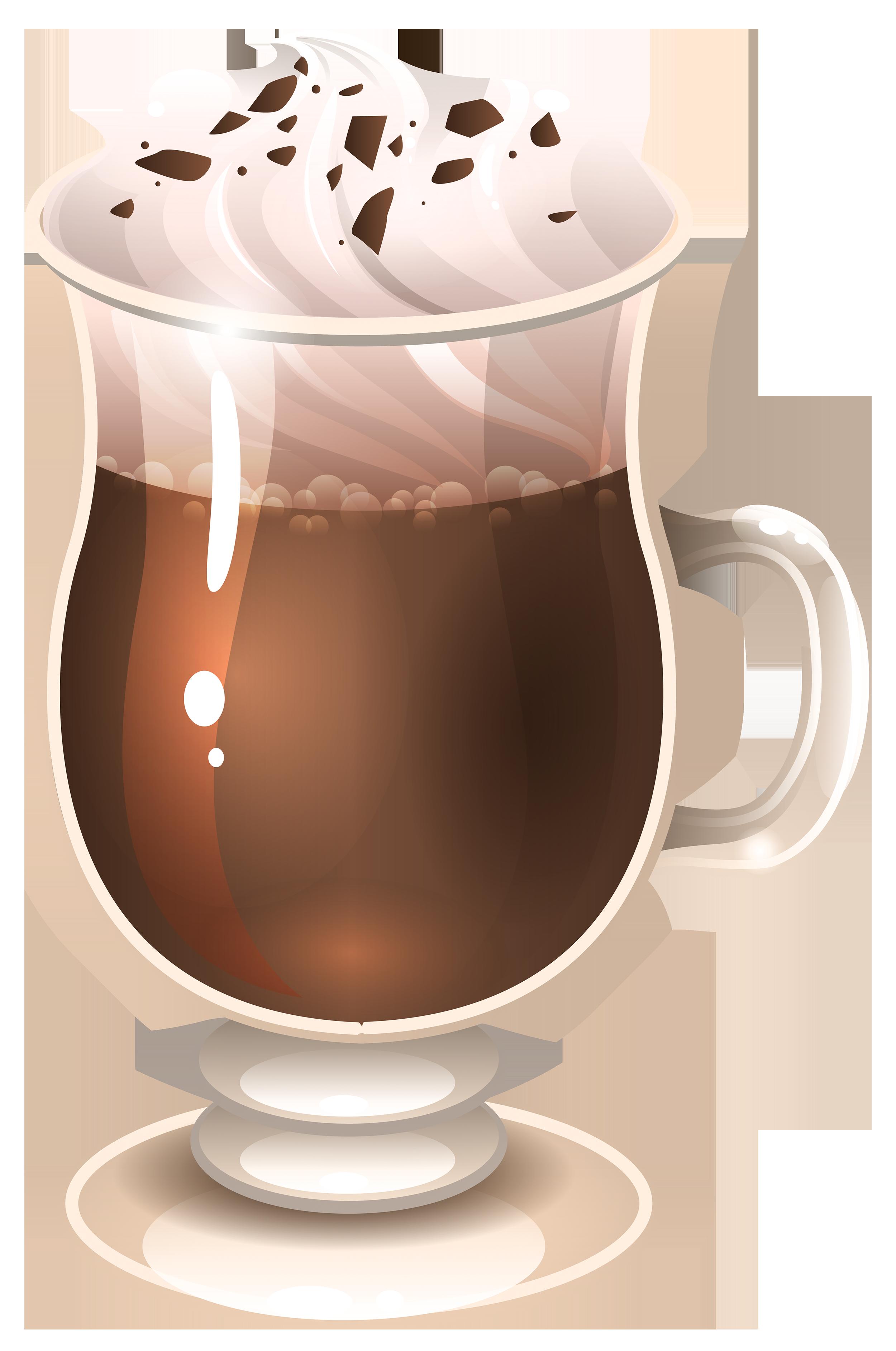 Latte macchiato coffee cappuccino. Hot clipart hot choclate