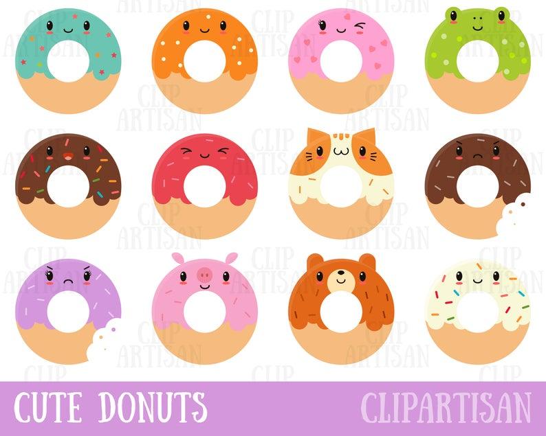 Doughnut clipart kawaii. Donuts cute donut doughnuts