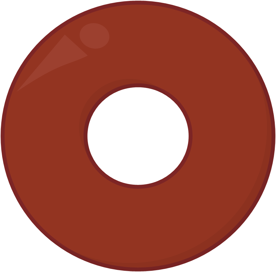 Image chocolate donut asset. Wheel clipart circle object