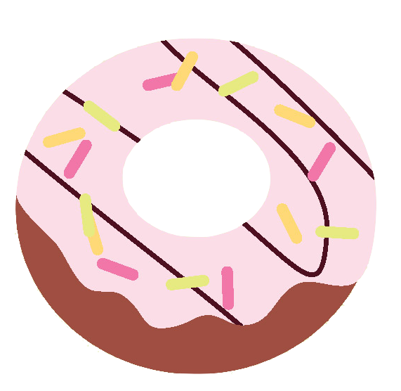 The world s first. Donuts clipart plain