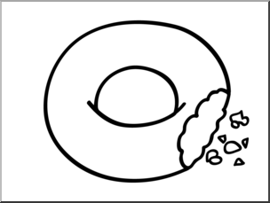 Donuts clipart plain. Donut black and white