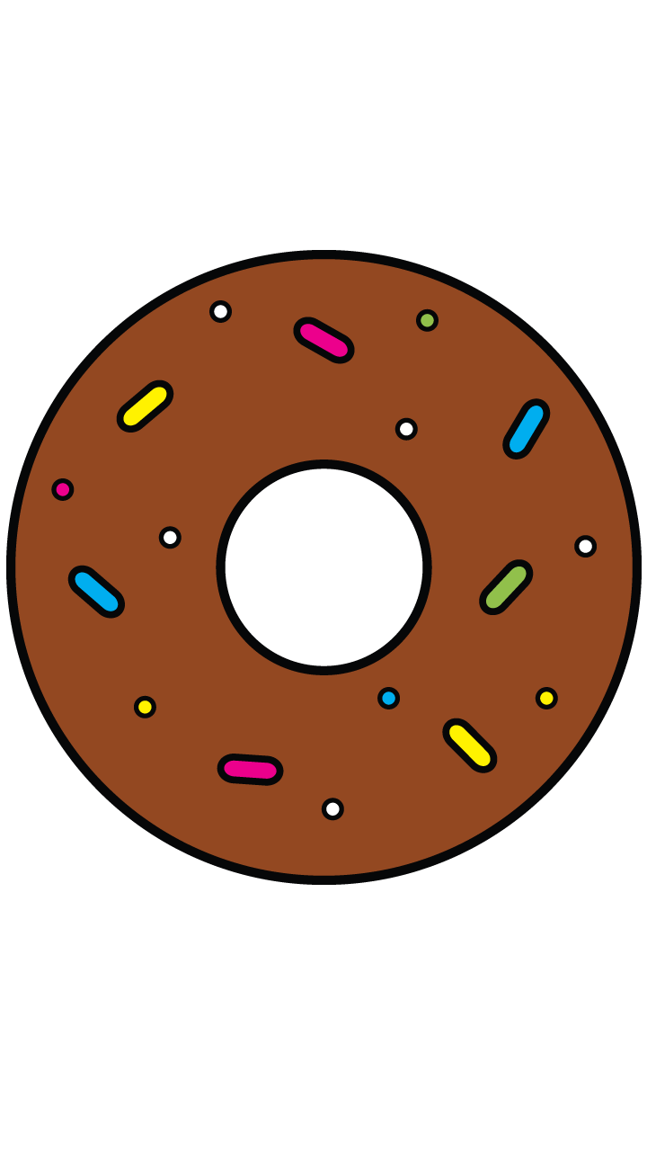 Delicious doughnut http drawingmanuals. Donuts clipart simple