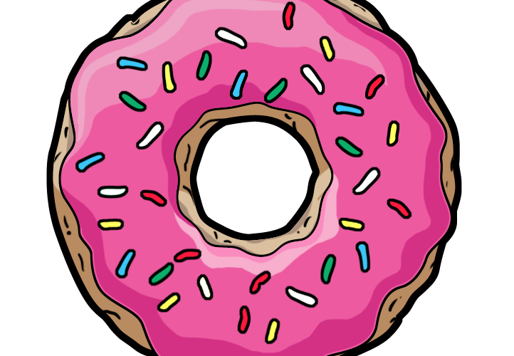 Donuts clipart simpsons donut. J dilla changed my