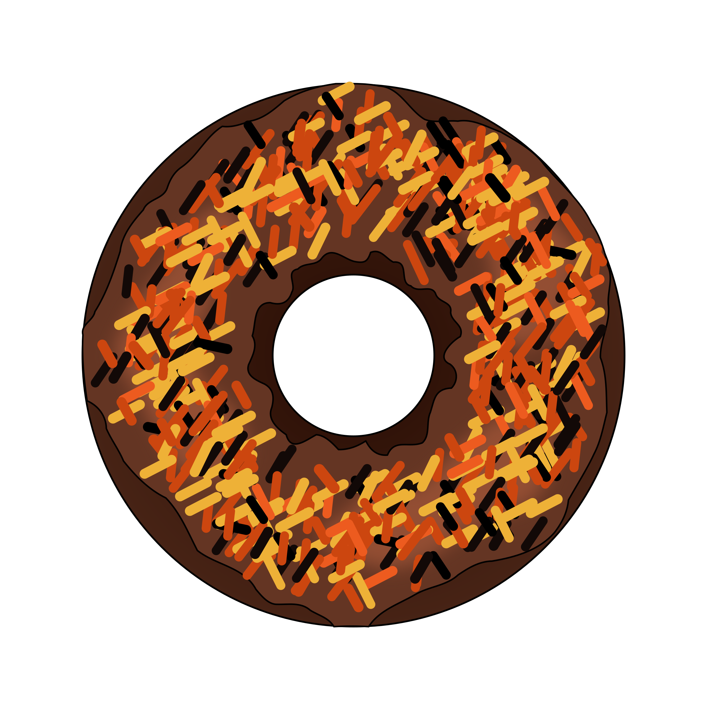 Donuts clipart small. Fall or halloween donut