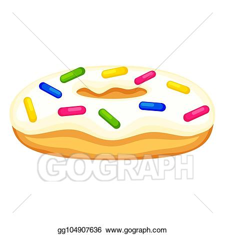 Eps vector colorful cartoon. Donuts clipart unhealthy snack