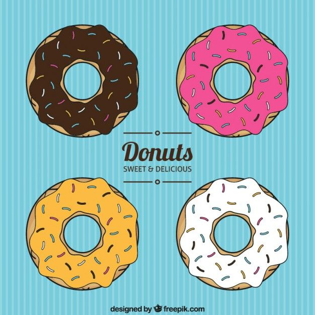 Donuts clipart vector. Collection free vectors in