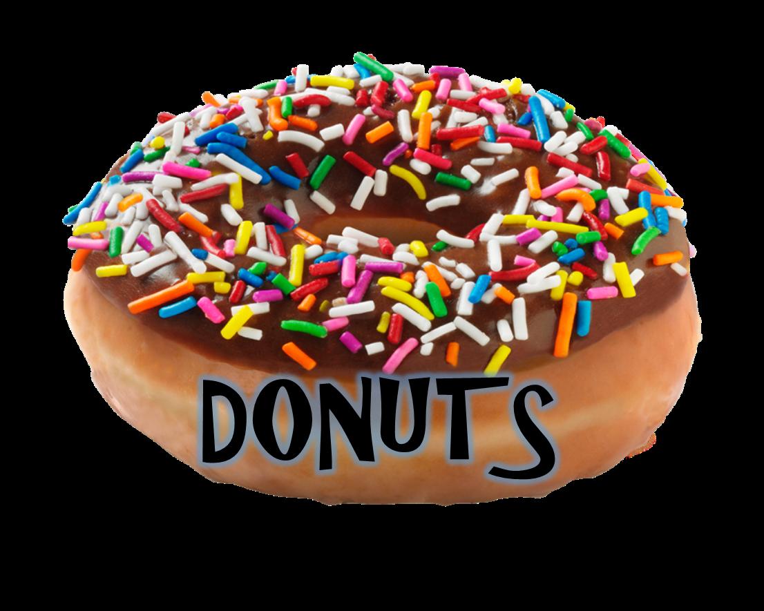 Vistors better put on. Words clipart doughnut