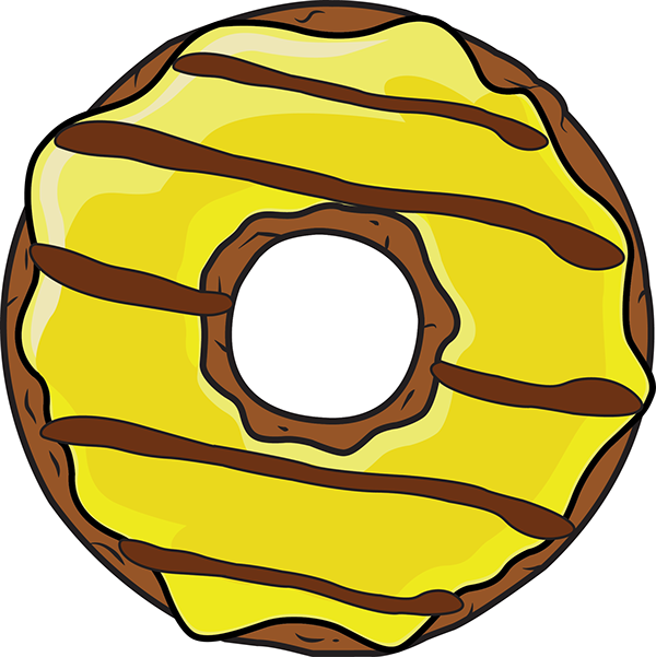 Donuts clipart yellow. I on behance vote
