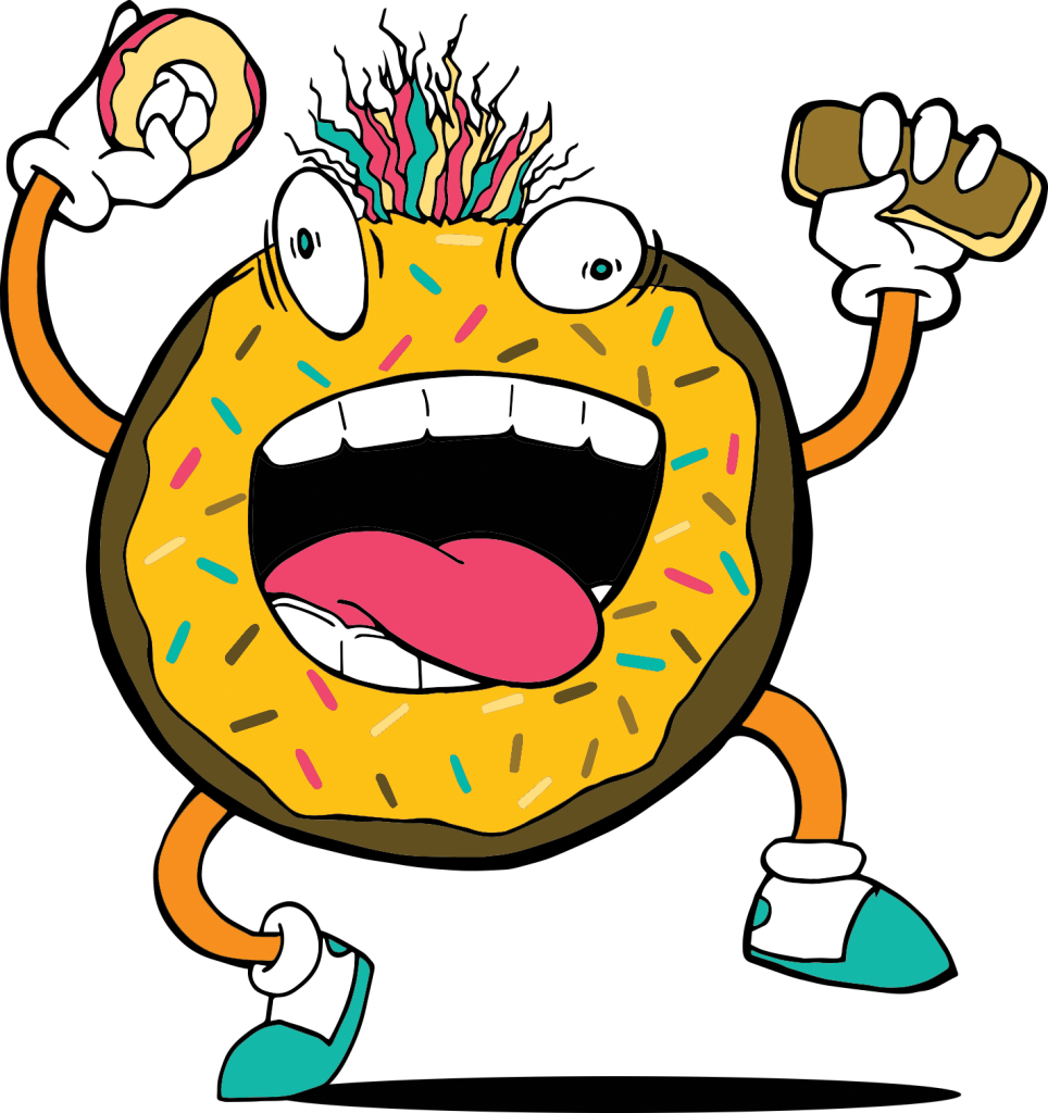 Go nutz donut shop. Donuts clipart yellow