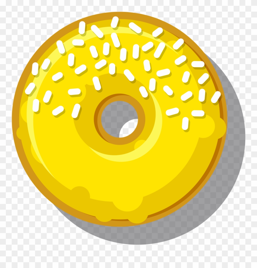 Jazzberry jingle donut png. Donuts clipart yellow