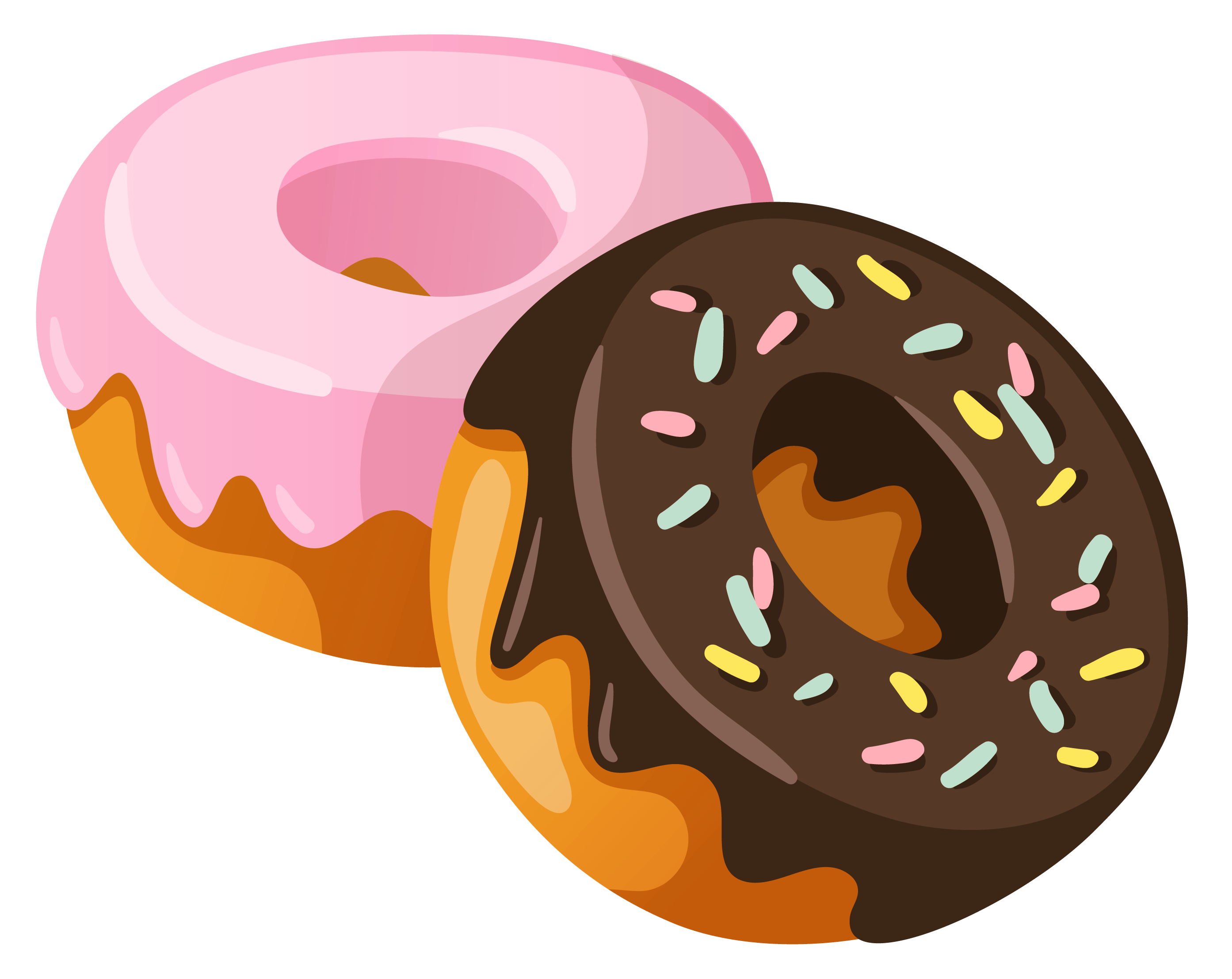 Donuts png stickpng food. 2 clipart transparent background