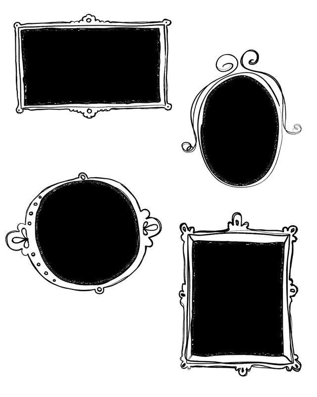 Doodle frame png.  free blog boards