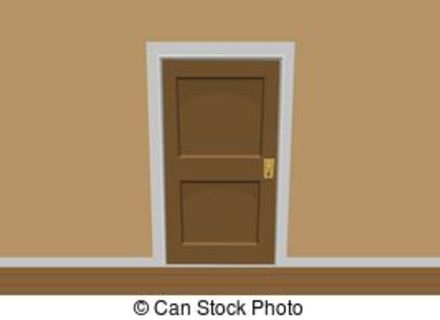 Door clipart bedroom door.  cartoon stickers for