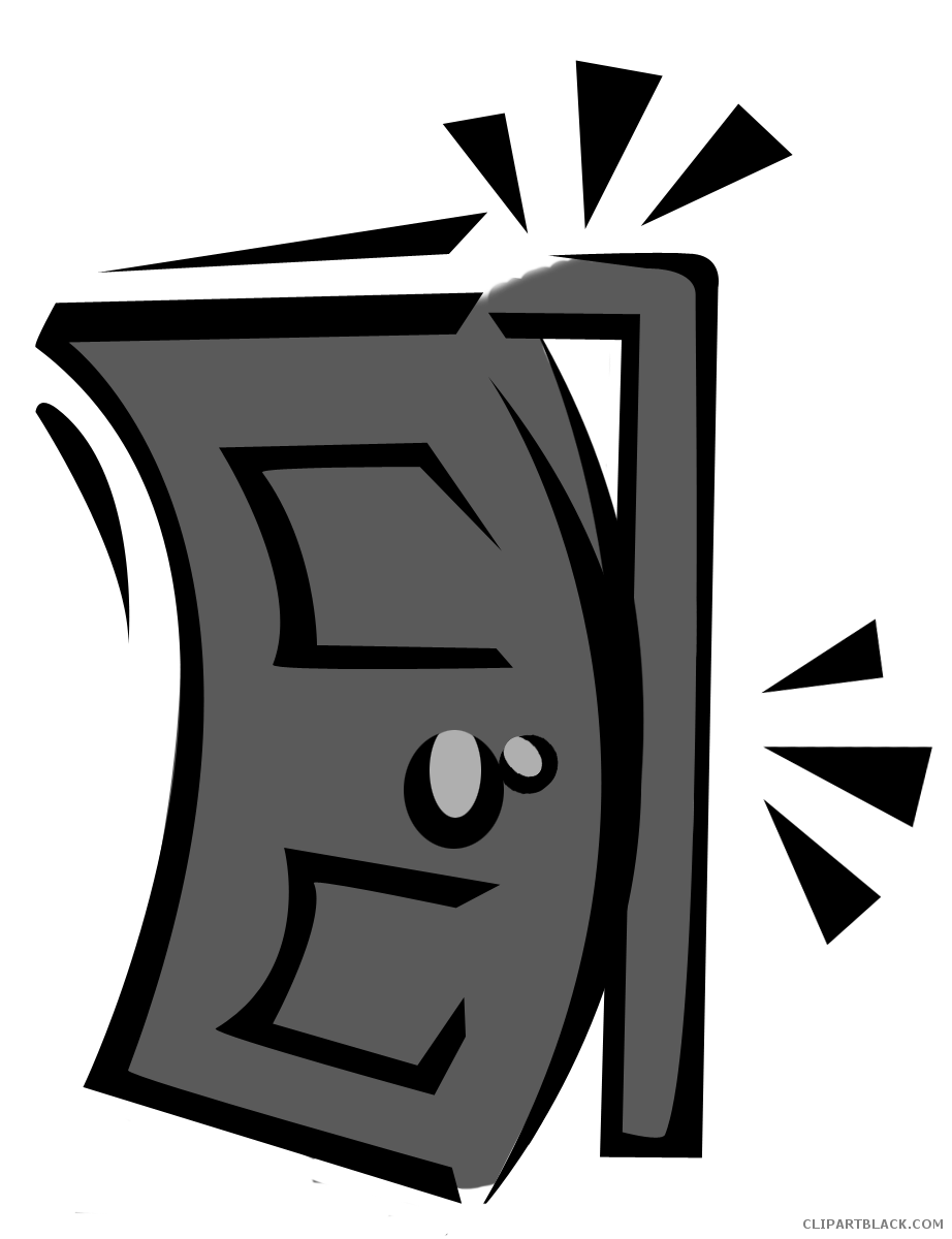 Page of clipartblack com. Door clipart black and white