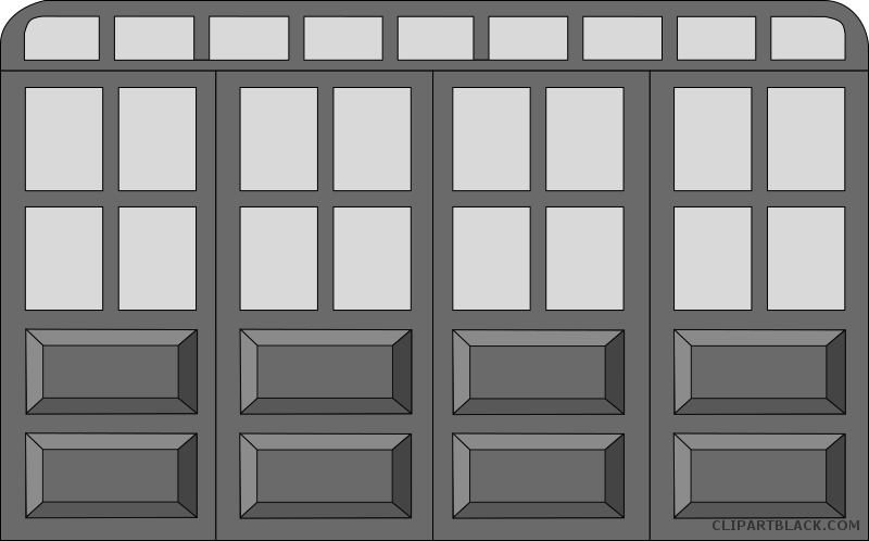 Door clipart black and white. Tools free images clipartblack