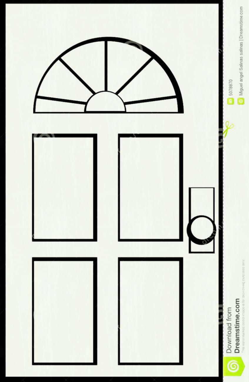 Station . Door clipart black and white