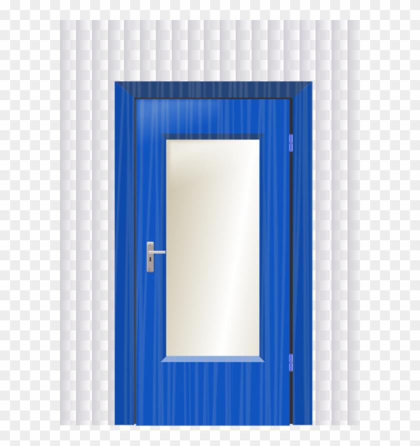 Doors and open clip. Door clipart blue door