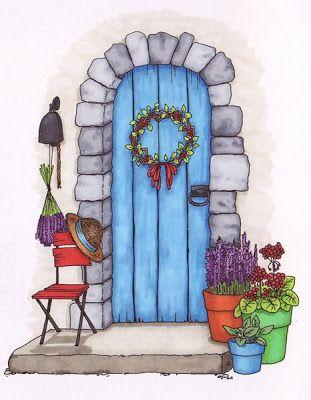 Door clipart cottage door. Beccy s place front