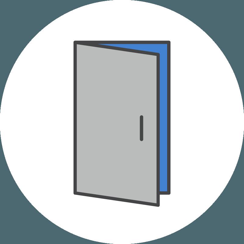 Icons open allclear id. Door clipart door monitor