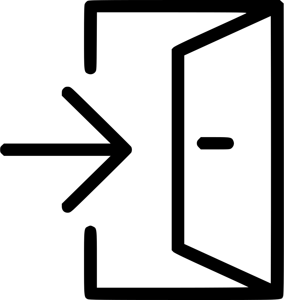 Door exit logout svg. Emergency clipart danger symbol