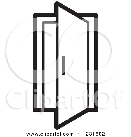 Door clipart dor.  open clipartlook