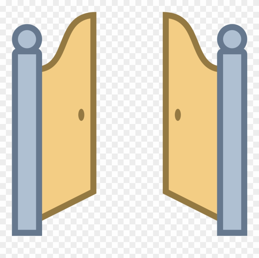 Drawing doors front door. Gate clipart gateway