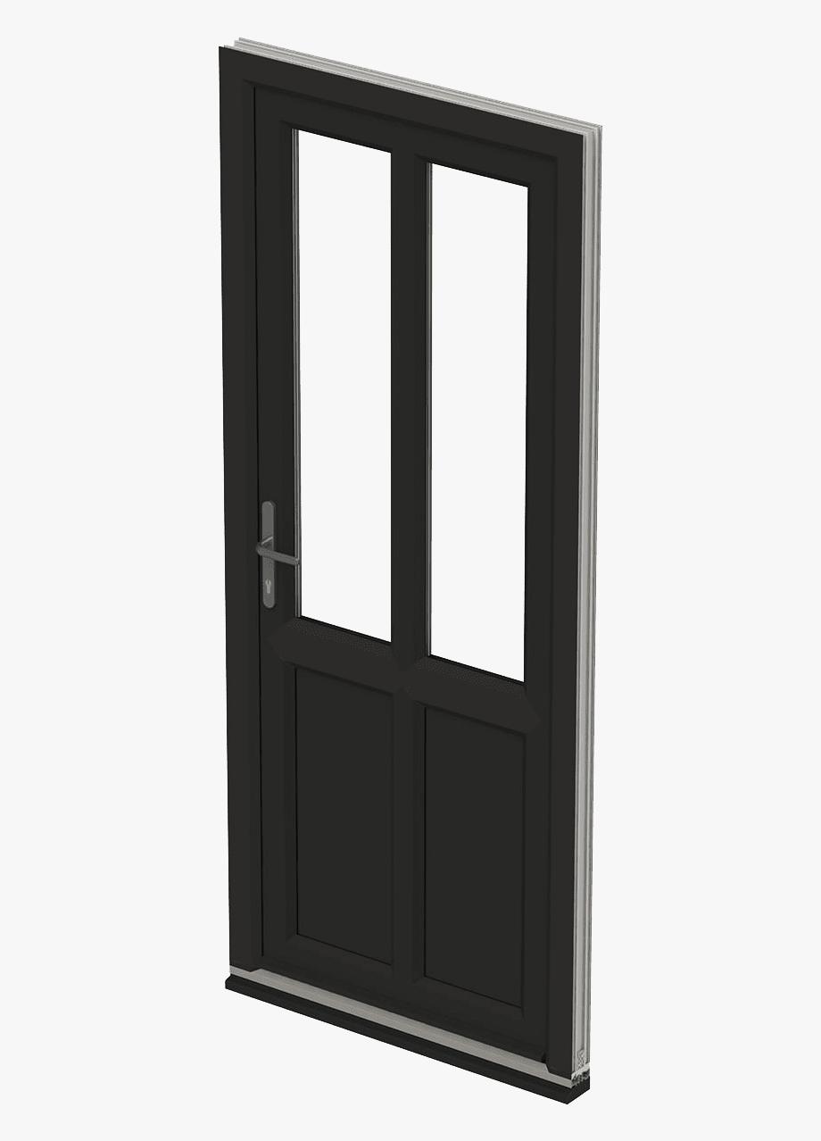 Door clipart entry door. Black front screen free