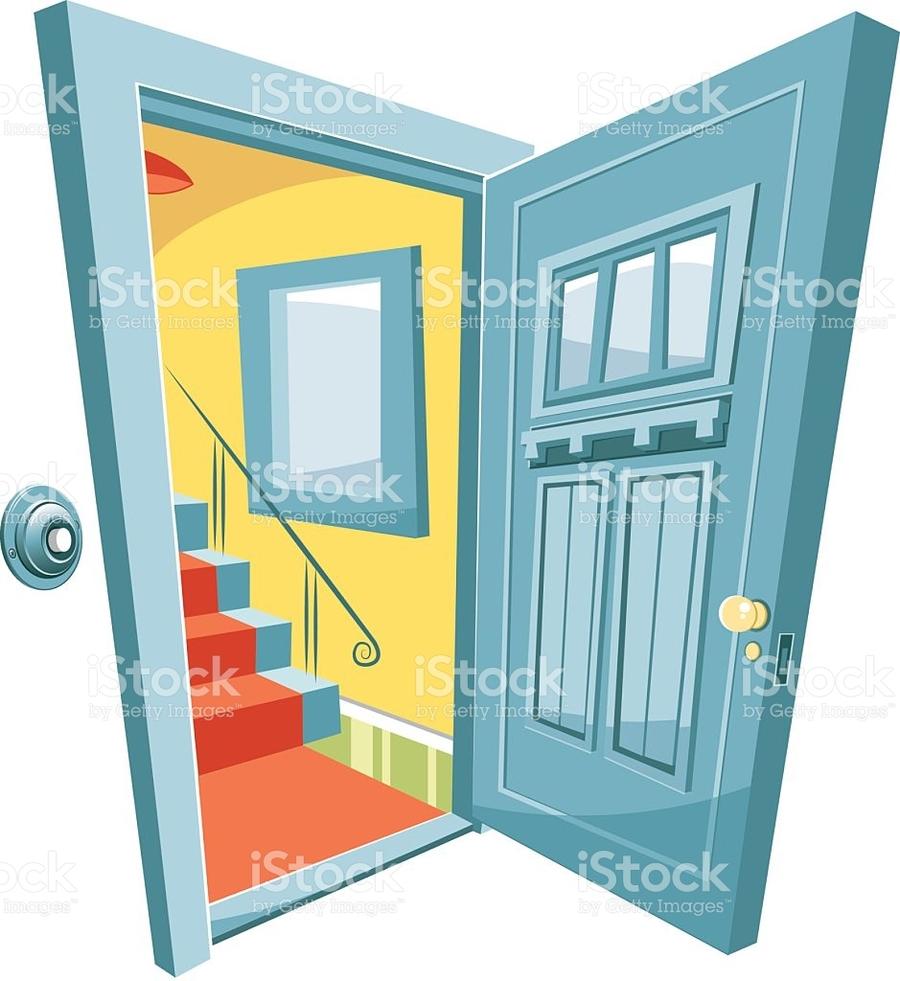 Illustration window drawing cartoon. Door clipart entry door