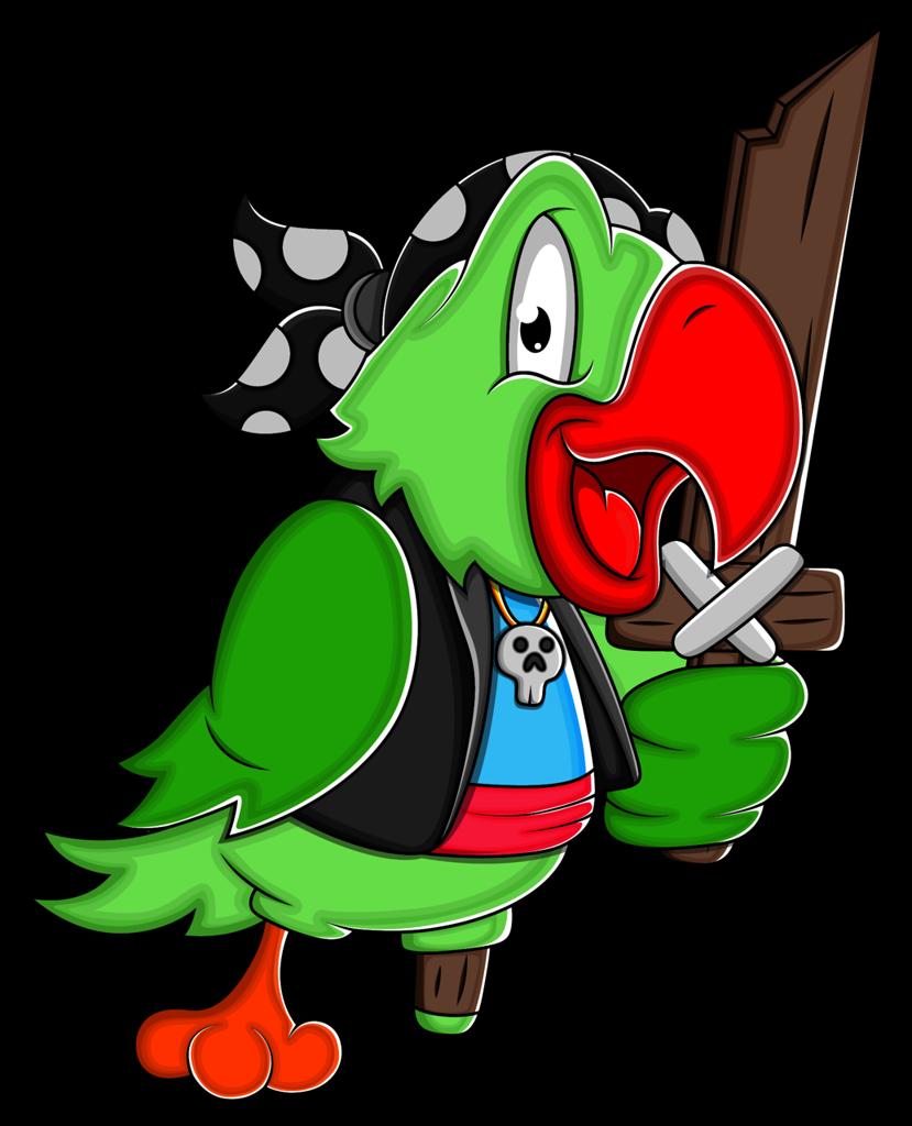 Pirata pinterest clip art. Parrot clipart pirate party