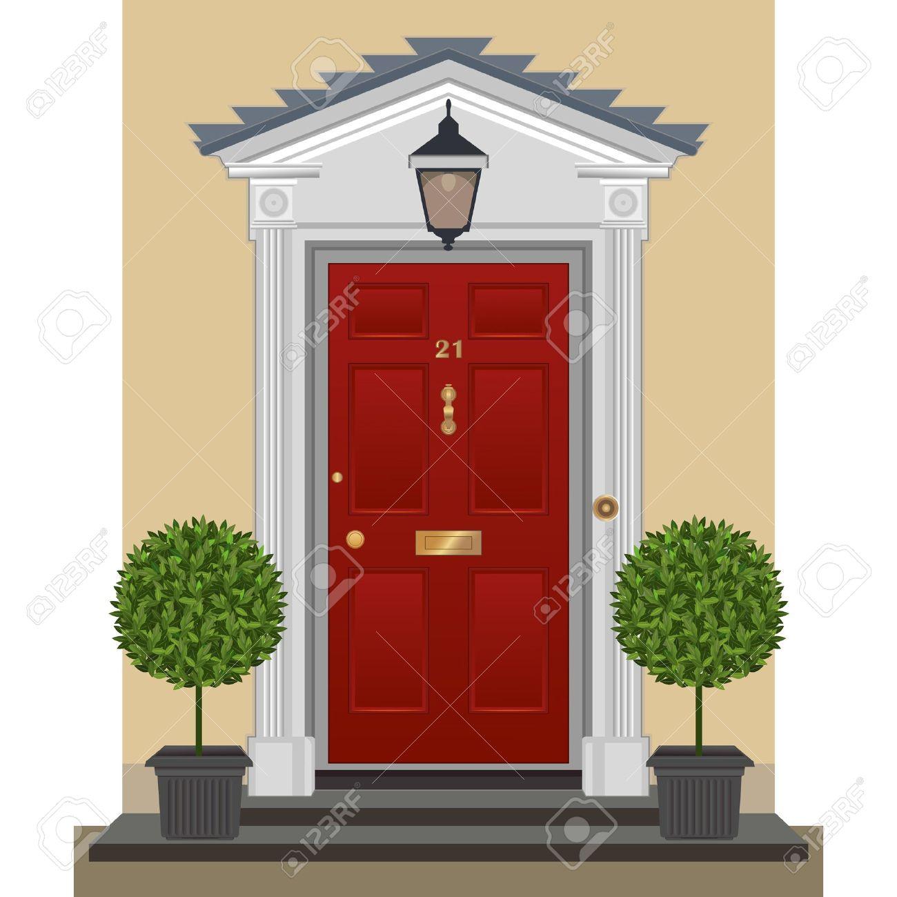 Cartoon front house pic. Door clipart home door