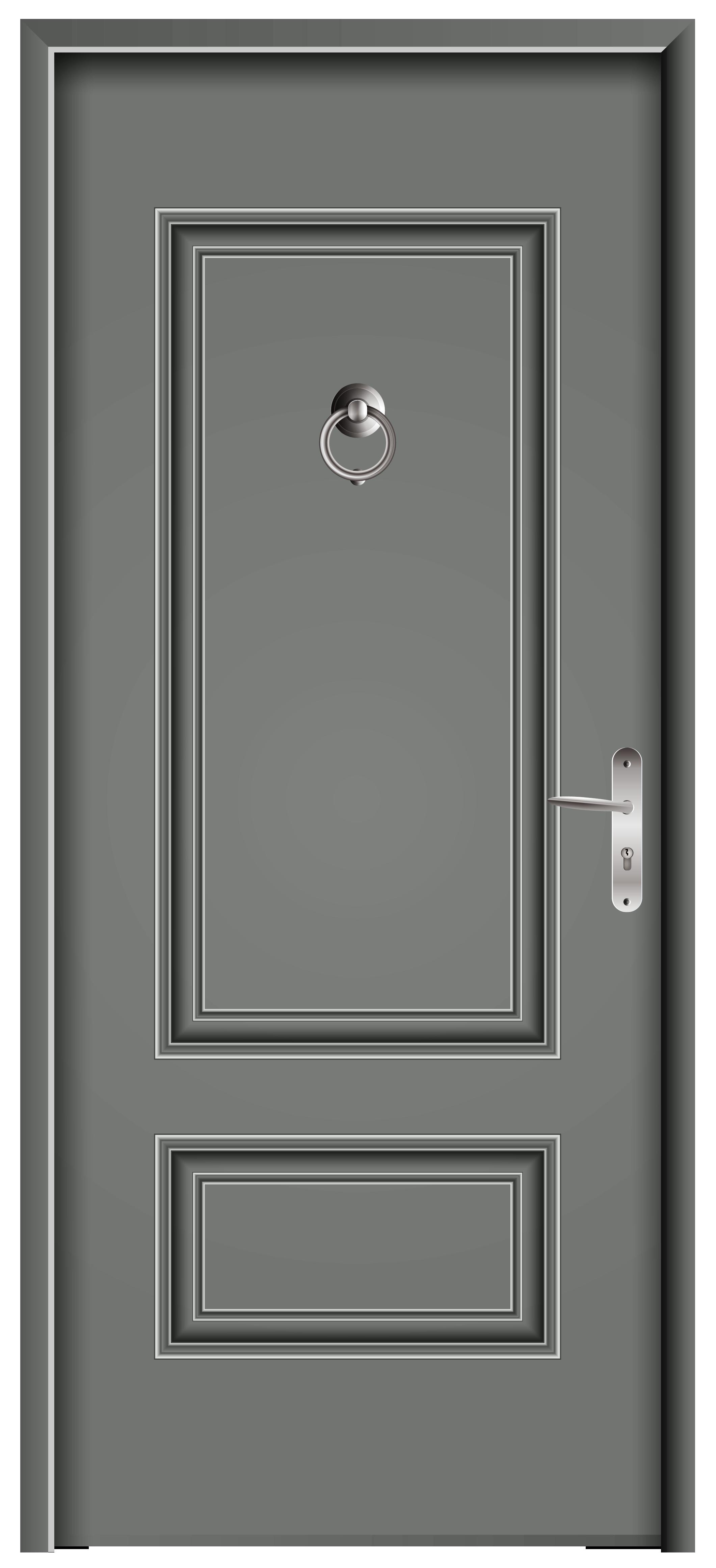 Front grey png clip. Door clipart main door