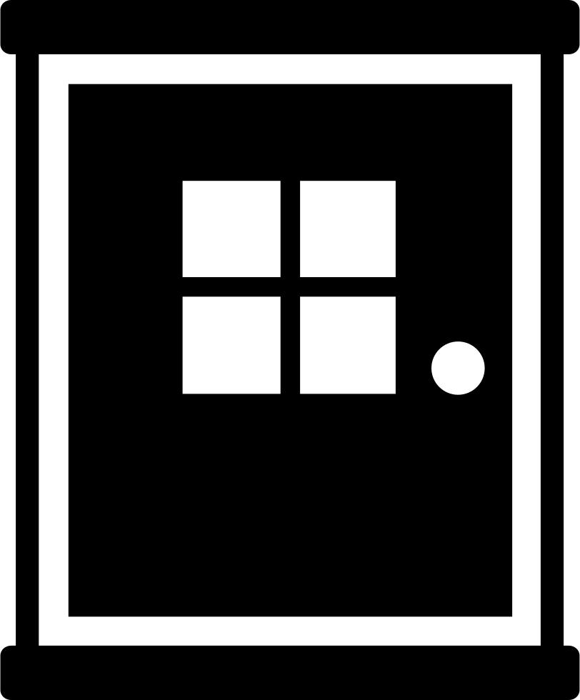 And window b svg. Door clipart rectangular object