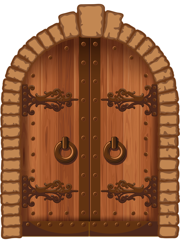 collection of wooden. Door clipart wood door